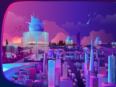 Future city at sea
