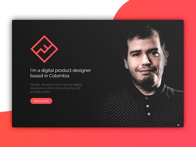 Landing Page (#DailyUI #003) web design ux ui challenge ui landing page dailyui 003