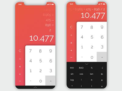 Calculator (#DailyUI #004) ux ui challenge ui calculator dailyui 004