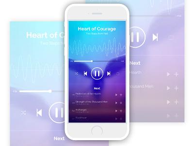 Music Player (#DailyUI #009) dailyui009 uxdesign uidesign dailyuichallenge dailyui ux ui music player