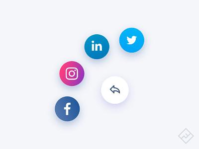 Daily UI Challenge #010: Social share social share vector concept ux design ui design ui challenge web design dailyui ux ui