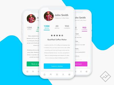 Reviews App adobexd adobe xd review app review reviews design gui app mobile ux design concept ui design web design ux ui