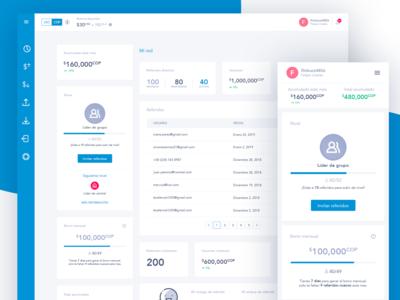 Referrals Dashboard blockchain app ux design ui design ux ui web design webdesign dashboard design dashboard ui dashboard referrals
