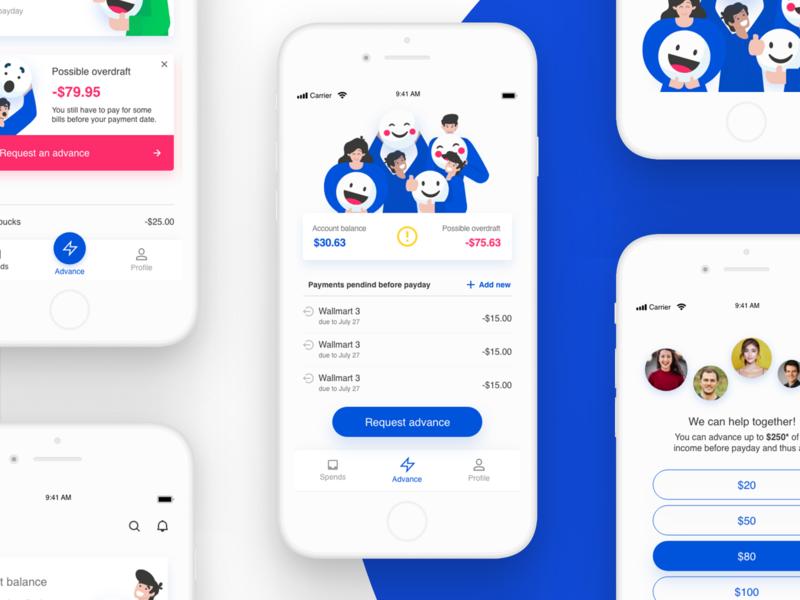 Cash advance app mobile lending loans app ux design concept ui challenge ui design ux ui financial app finance app financial