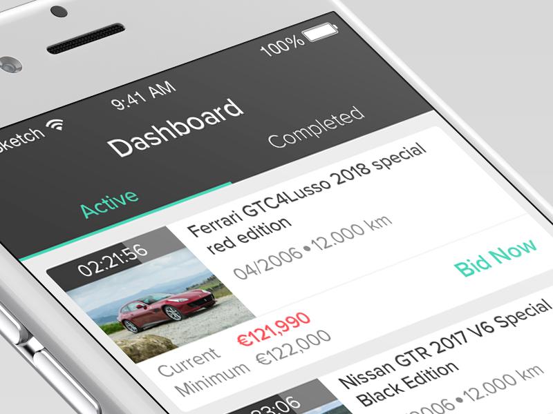 Car Auction Apps >> Car Auction App By Mayank Sharma On Dribbble