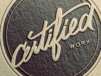 Certified Work Badge