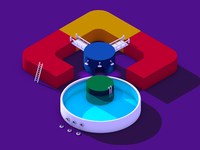 Isometric Lens Pool