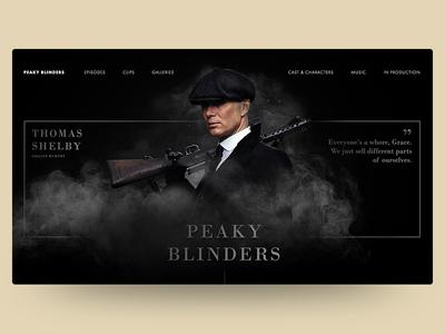 Peaky Blinders Landing Page