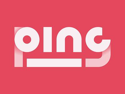 Ping - Thirty Logos Challenge #4 logo vector thirty logos minimal ping branding
