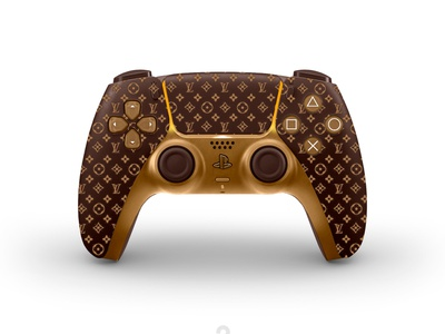 New concept designs for the DualSense PS5. Louis Vuitton game fun concept sp5 louis vuitton