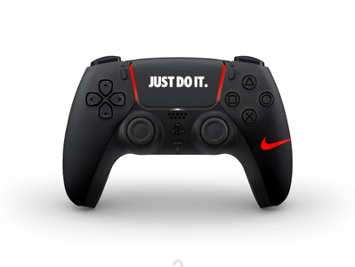 New concept designs for the DualSense PS5. Nike black fun sport dualsense dualshock playstation5 concept nike