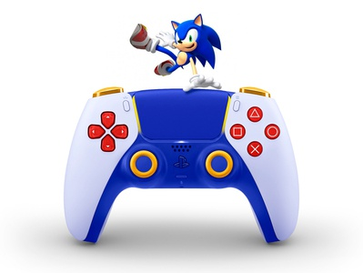New concept designs for the DualSense PS5. Sonic sonic the hedgehog blue concept design ps5 playstation5 gamepad games dualsense dualshock sega sony sonic