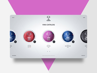 VIKA SVENSSON 💥 Catalog page 💥 buy store shop catalog products box vector victory website webdesign web ui ux