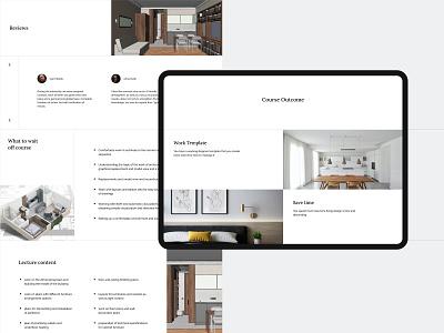 Archicad - website design designer interior archicad landing landingpage web ui ux