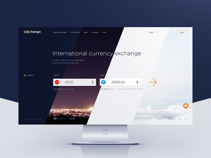 Free Psd Template For Ing Currency Exchange Website Design Site Web