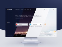Free PSD Template for downloading. Currency exchange website