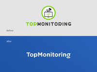 TopMonitoring Logo. Currency exchange rates. Before/after
