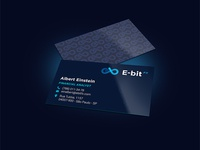 E-BitFX. Brandbook design. Business card