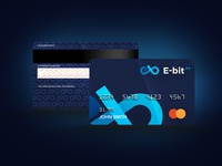 E-BitFX. Brandbook design. Credit card