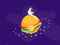 Hamburger planet for the new website. Galaxy Bar. Kiev