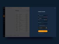 Create Account page. P2PB