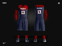 BAHIA team - basketball uniform design