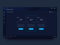 E-bitFX. Investment page. Dark style