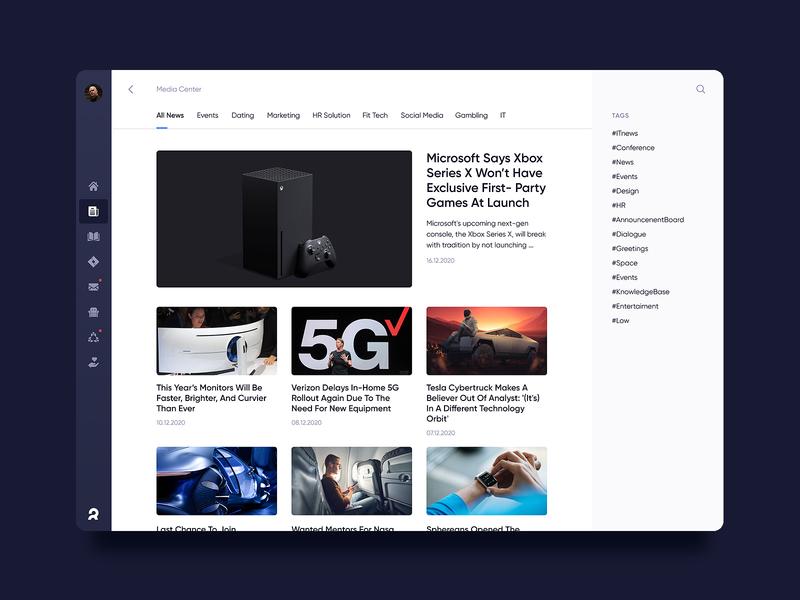 Corporate dashboard. News
