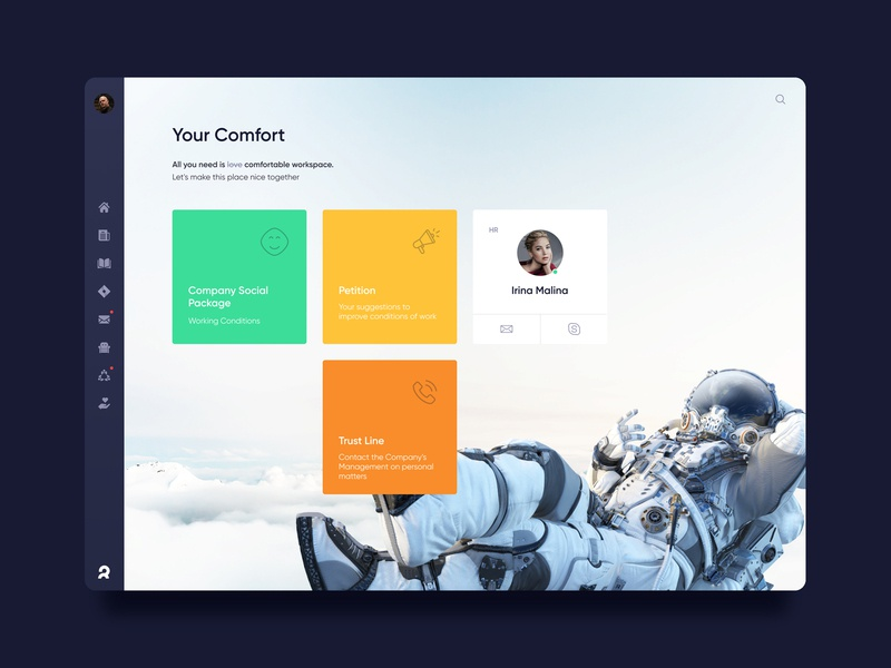 Corporate dashboard. Comfort call petition admon interface dashboard ui ux comfort