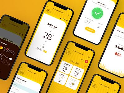 INNOVATIVE UNDERFLOOR HEATING SOLUTIONS app user experience user inteface ux ui ui kit sapo iot app design app