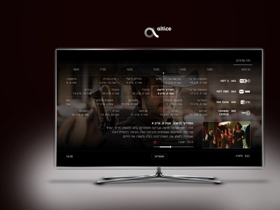 Altice cable tv user experience and design interface remote tv cable user experience user interface uiux ui graphic