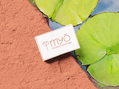 MYO Transformational Yoga lotus lotus flower yoga logodesign 2d design italy branding vector 2020 businesscard business card brand logo