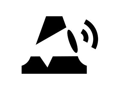 Advertisement Logo negative space advertisement ad megaphone logo alphabet a letter a