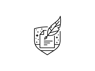 Document Logo for sale for fun pen feather feather pen quill trust shield writer writing notary logo legal document
