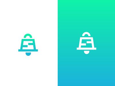 StoreUpdate notification ecommerce shop brand logo update bell letter s bag shopping