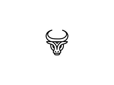 Bull for sale unused buy unused logo branding brand minimal line animal logo zebu bull