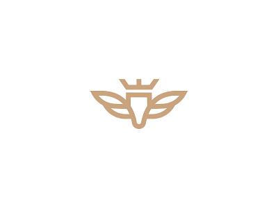 Pegasus (Unused) wings animal royal crown logo mythology wing horse pegasus