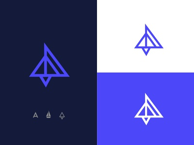 Startup logo design sailor sail branding startup rocket letter a boat sailing logo