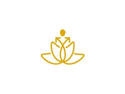 Debt Nirvana debt nirvana lotus yoga freedom growth arrow logo negative loss profit