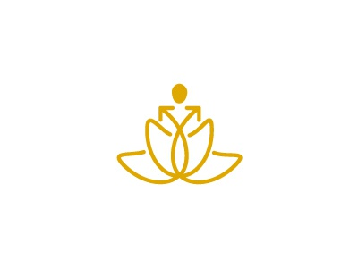 Debt Nirvana debt nirvana lotus yoga freedom growth arrow logo negative loss profit