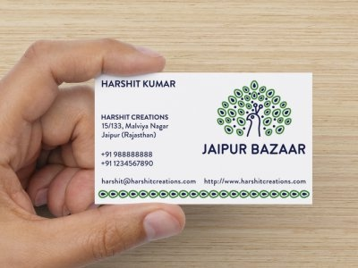 Businesscard by tanmay goswami dribbble logo and business card designed for jaipur bazaar card preview courtesy vistaprint reheart Gallery