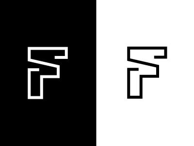 FS monogram wordmark logo alphabet s f