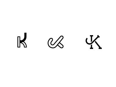 Kj wordmark mark logo jk kj j k