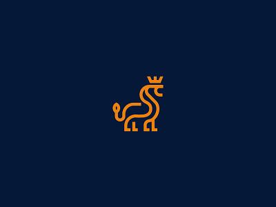 Lion for sale unused buy for sale logopond lettering minimal line leader royal king jungle big cat animal logo lion