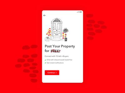 Post property_Ideation app concept design app illustration design ui ux ideation