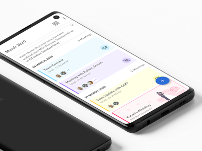 Calendar Design typography design app app concept