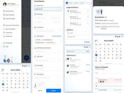 Corporate Calendar Concept ideation android app design design app uxui uiux ux calendar ui calendar app calendar