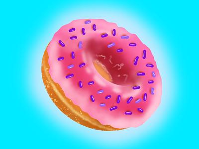Doughnut ui ux vector illustration trying firstshot food illustration illustraion food product designs product design product design art design procreate app procreate art procreate
