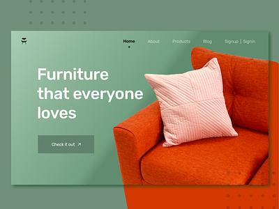 Furniture Website design app ux design uidesign uiux conceptual concept design furniture design website concept website design