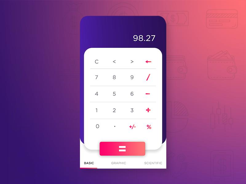 Daily UI #004 - Calculator design love calculator dailyui004 dailyui